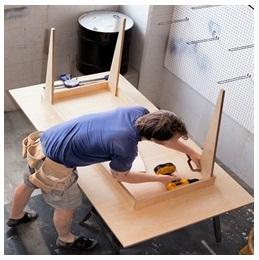 Сборка столов по низким ценам в Красногорске от специалистов