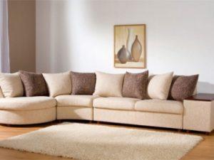 Перетяжка углового дивана на дому в Красногорске